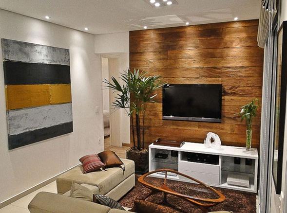 Decora y disena peque o apartamento en sao paulo de 60 m2 for Acabados apartamentos pequenos