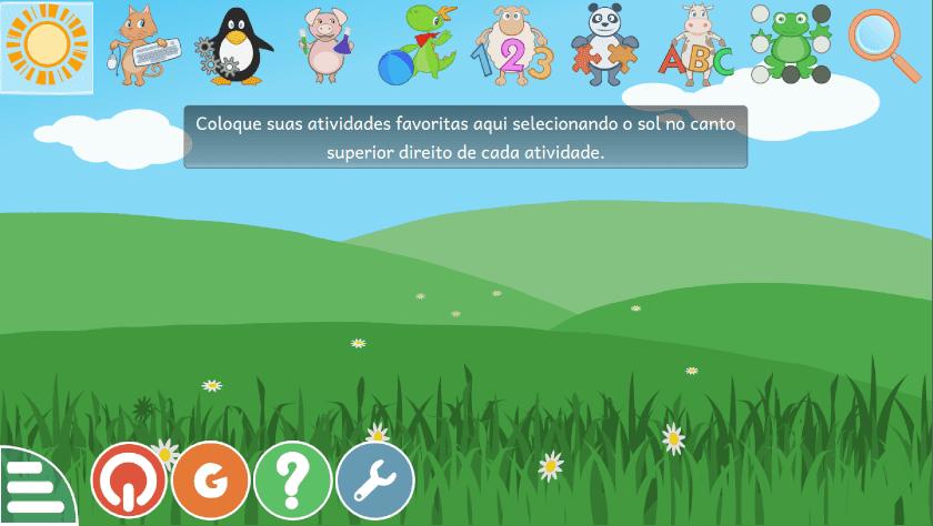 O GCompris uma suíte educacional para  atividades infantis