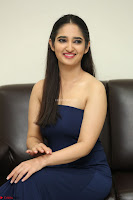 Radhika Mehrotra in sleevless Strap less Blue Gown At Prema Entha Madhuram Priyuraalu Antha Katinam Movie Interview ~  Exclusive 004.JPG