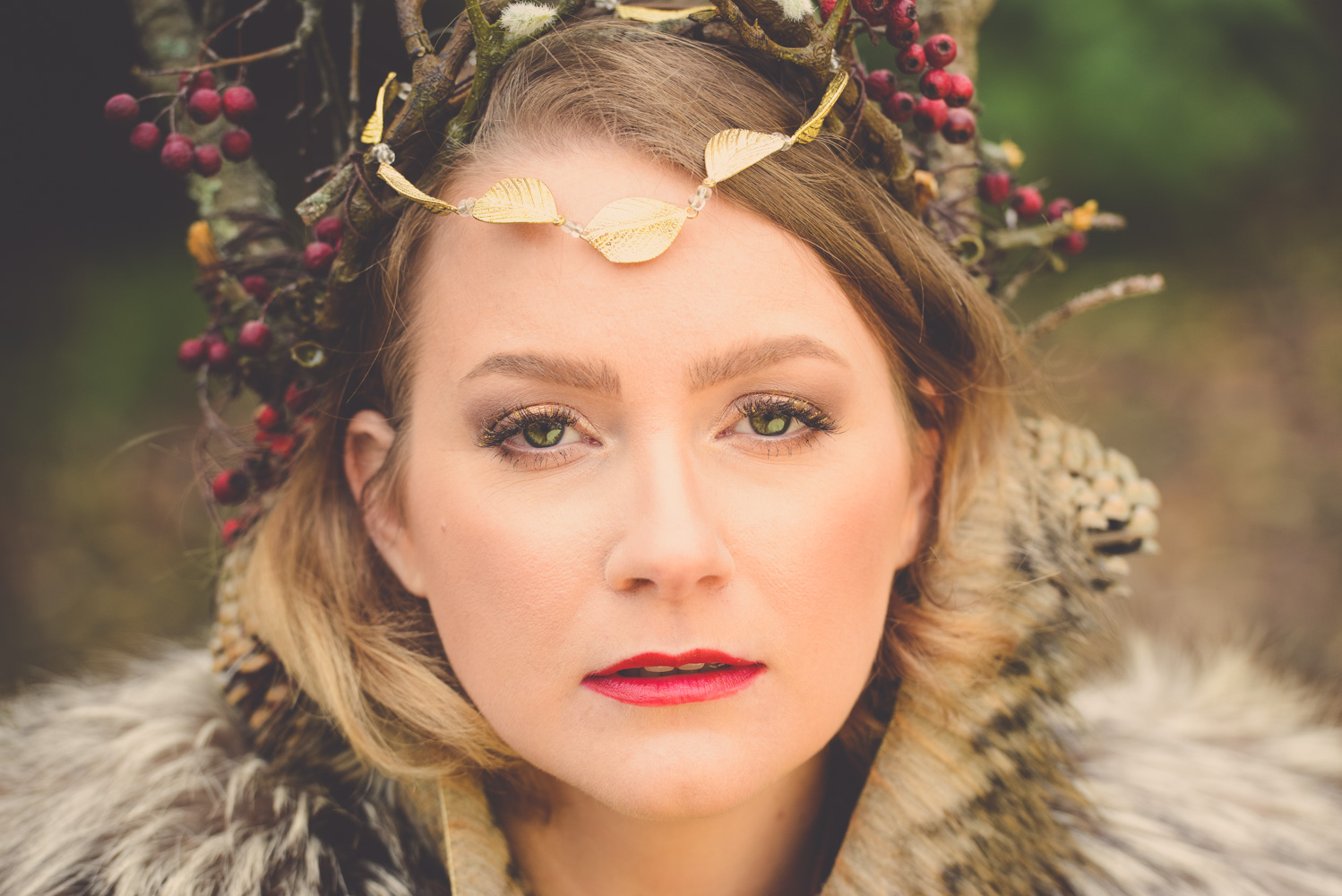 @findingfemme styles a woodland queen with russian volume lashes