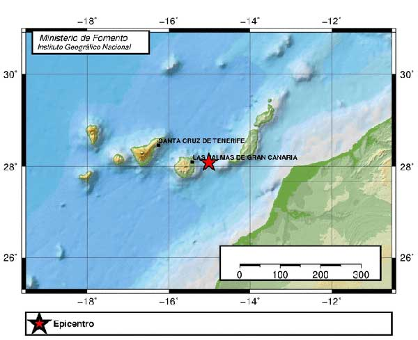 Terremoto Atlántico, Noreste Gran Canaria