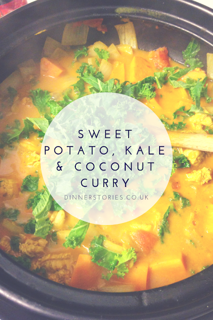 sweet potato, kale and coconut curry