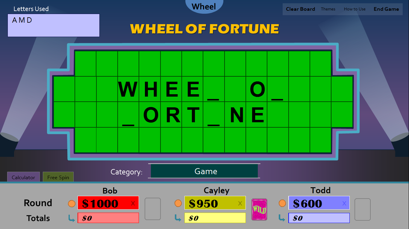 Tim 39 s slideshow games wheel of fortune for powerpoint for Online wheel of fortune template