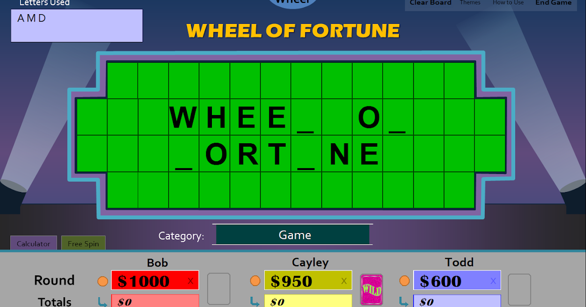 wheel of fortune powerpoint template download for mac