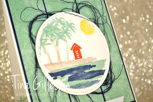 scissorspapercard, Stampin' Up!, Art With Heart, Colour Creations, Waterfront, Itty Bitty Birthdays, Tranquil Textures DSP, Stitched Shapes Framelits
