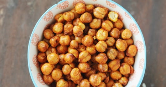 Oven Roasted Chickpeas: Indian Style