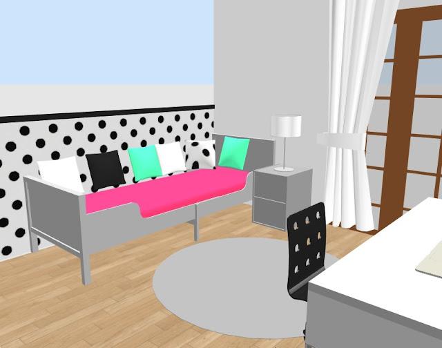 pokój dziecięcy pokój dla dziewczynki pokój nastolatki pokój w groszki