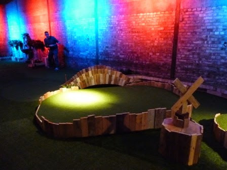 Playing at Swingers Crazy Golf course in 2014