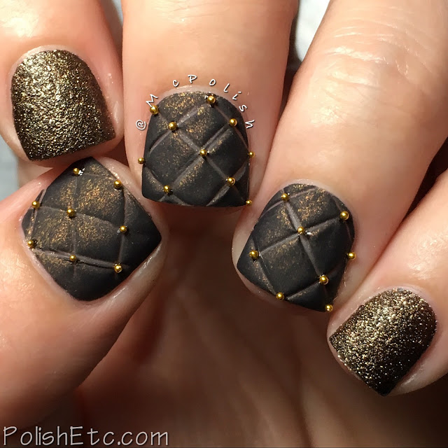 Brown quilted nails by McPolish for the #31DC2016Weekly
