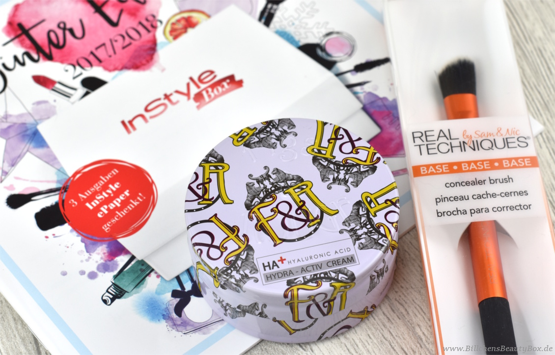 InStyle Box Edition Winter 2017 / 2018 - Figs & Rouge und Real Techniques
