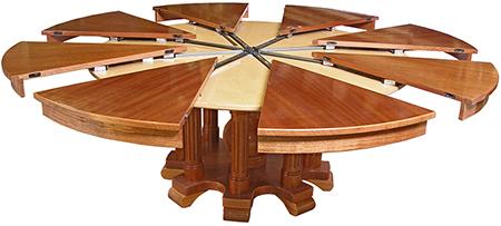 Ah e se falando em madeira mesa redonda expandida for Expanding circular table plans