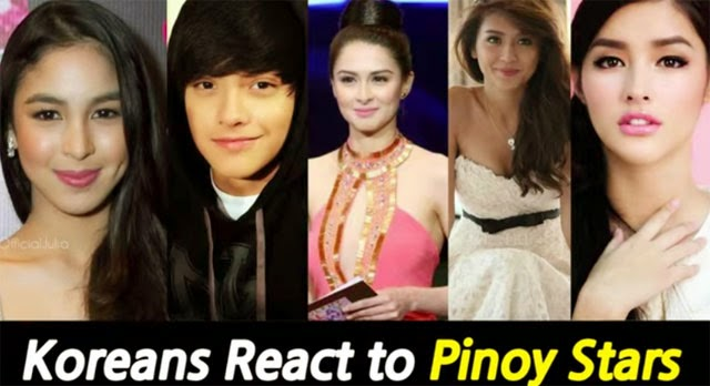 Koreans Reacting to the Photos of Filipino Celebrities is Going Viral