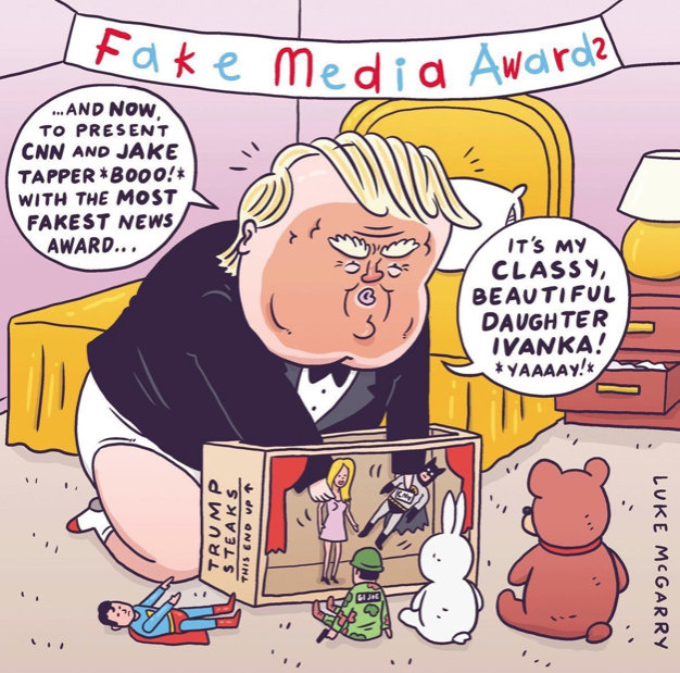 Image result for cartoons trump being infant august 2018
