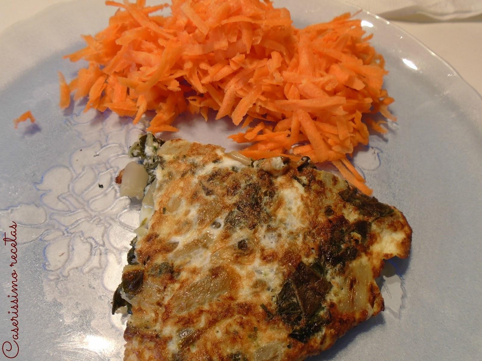 Tortilla de verduras light