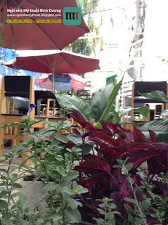 Quá trình Thiết kế thi công quán cafe Poly Bình Dương