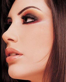 Arab style makeup girls eyes bridal cheeks lips picture