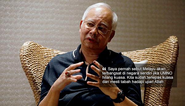 'Saya pernah sebut Melayu akan terbangsat jika UMNO hilang kuasa' - Najib minta rakyat tabah hadapi ujian Allah