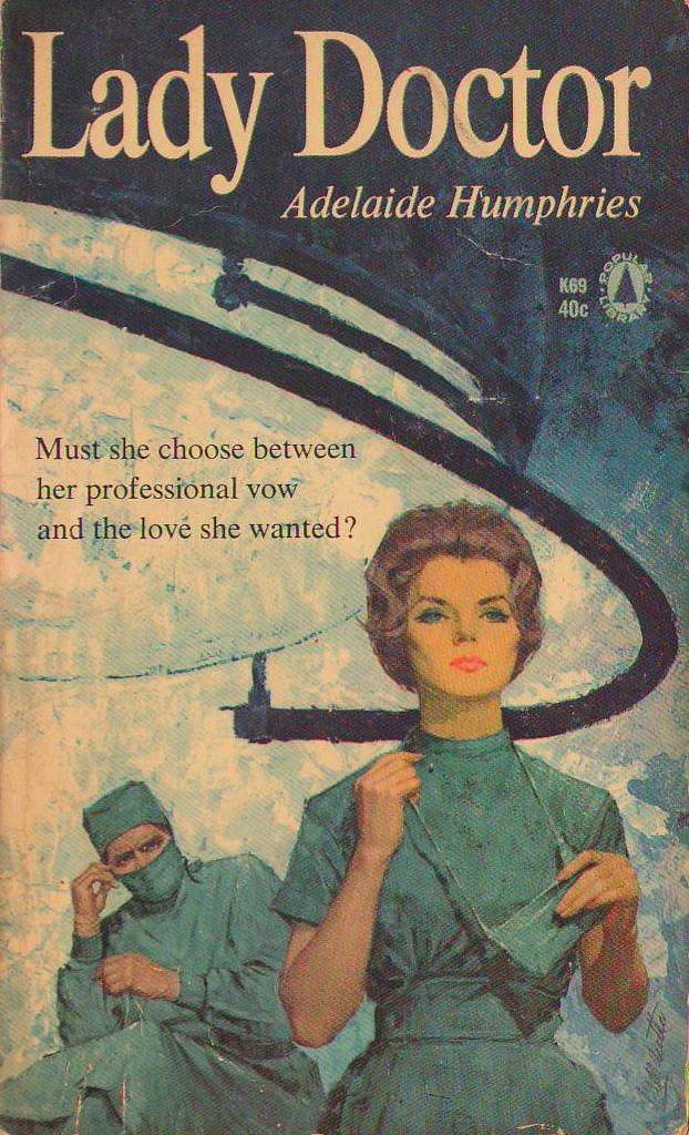 Vintage Nurse Romance Novels Lady Doctor-2638