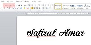 Cara cara nak install font