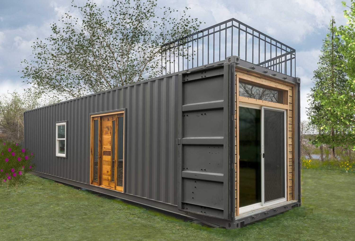 Best Kitchen Gallery: Tiny House Town Freedom From Minimalist Homes 300 Sq Ft of 40 Foot Container Homes on rachelxblog.com