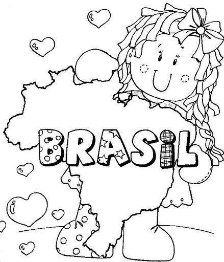 Mapas Do Brasil Para Imprimir E Colorir Mundinho Da Crianca