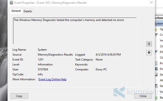 Cara Mengecek Kondisi RAM dengan Windows Memory Diagnostic 2