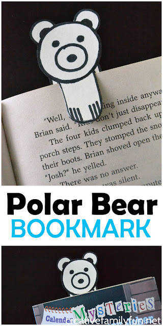 Follow this simple drawing tutorial to make an adorable polar bear bookmark to peek out of your favorite book.