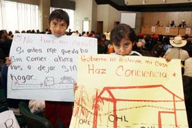 Protesta del Frente de Pueblos en Defensa de la Tierra y el Agua