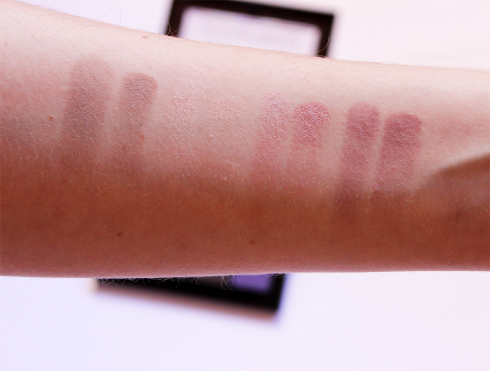 NYX Cosmetics Ultimate Cool Neutrals Shadow Palette swatches second row