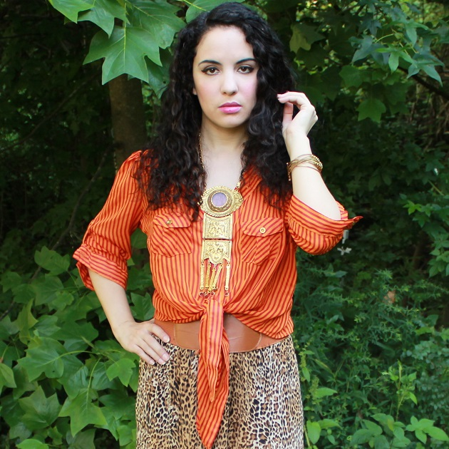 Leopard Print Maxi Skirt
