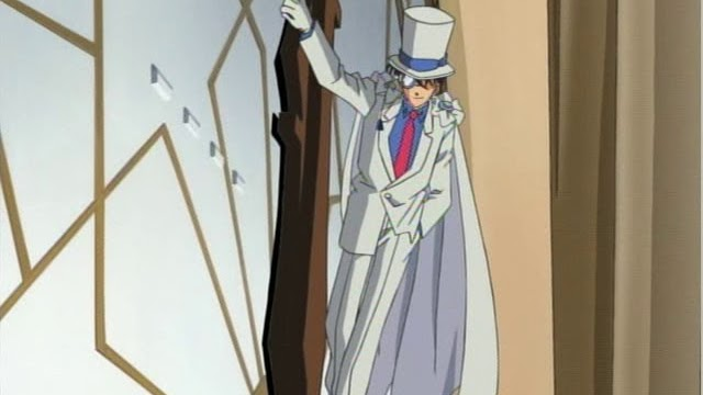 Kaito Kid on a clock
