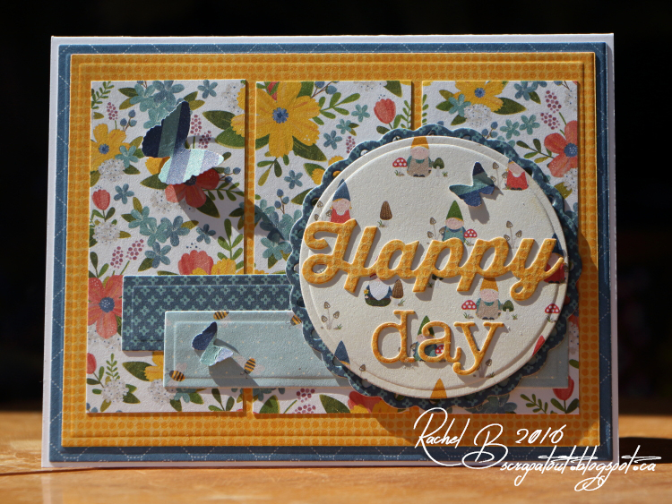 Scrapatout - Handmade card, Impression Obsession, Mojo Monday, Happy, Butterflies, Flowers