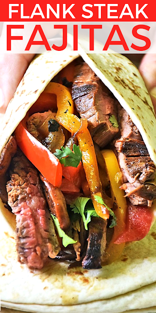 Flank Steak Fajitas Recipe on Pinterest