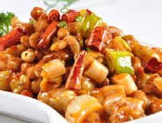 Resep praktis (mudah) ayam kung pao spesial (istimewa) enak, sedap, gurih, nikmat lezat