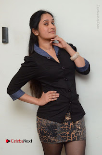Telugu Actress Priyanka Pallavi Stills in Micro Mini Skirt at Nenosthaa Movie Song Launch at Radio City  0006.JPG