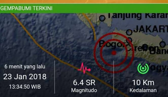 Guncang Jakarta, Pusat Gempa 6,4 SR Terjadi di Lebak Banten