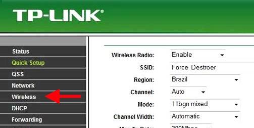 Tp-link configuração Wireless