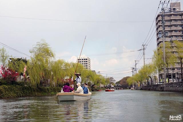 柳川の川下り、福岡