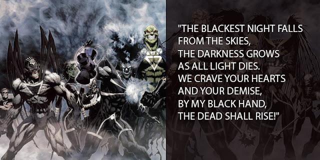 Bunyi Sumpah Black Lantern Corps