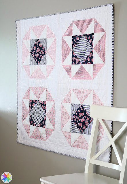 Lucky Star baby quilt pattern by Andy of A Bright Corner - a fat quarter quilt pattern from her book, Fresh Fat Quarter Quilts