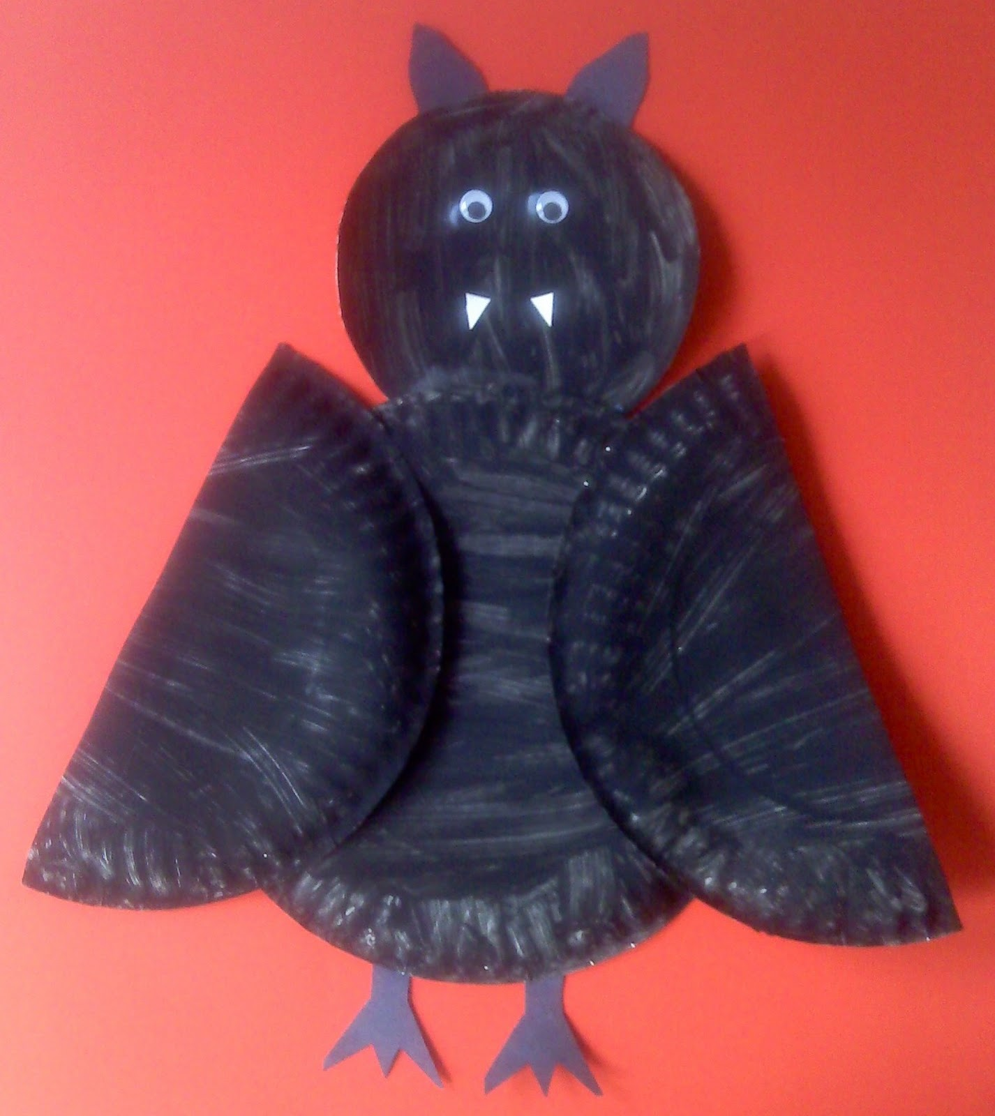 Crafts For Preschoolers Paper Plate Bat