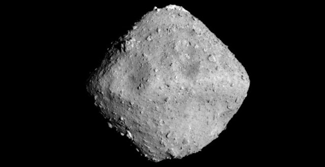 Asteroid Ryugu. Credit: JAXA, University of Tokyo, Kochi University, Rikkyo University, Nagoya University, Chiba Institute of Technology, Meiji University, University of Aizu, AIST