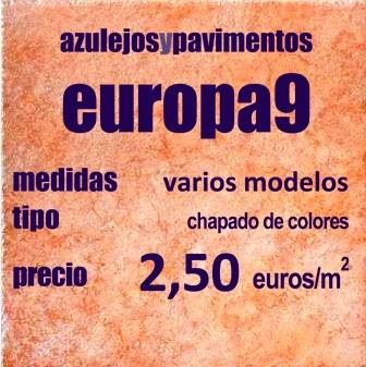 Europa 9 azulejos baldosas pavimentos gres porcel nico for Baldosas baratas para suelo