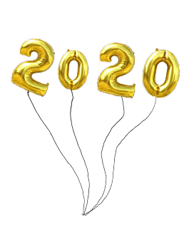 2020 baloon text png new year
