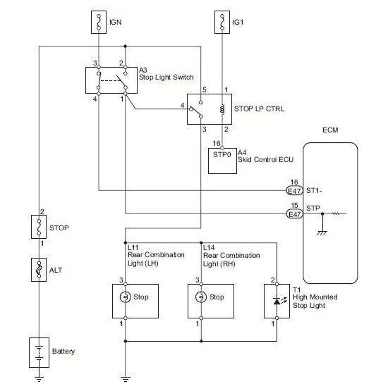 Duplex System Stop Light Switch Wiring Diagram of 2007 Toyota FJ Cruiser