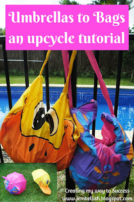 Umbrella's upcycled to Bags