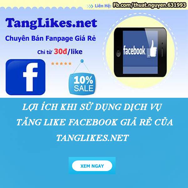 tăng like facebook giá rẻ
