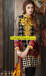 Charizma Fall-Winter Embroidered Linen Collection 2016-17