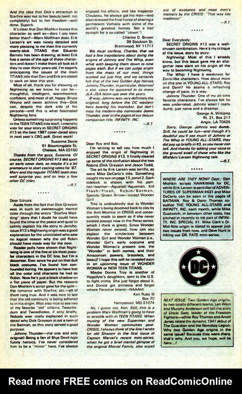 Read online Secret Origins (1986) comic -  Issue #18 - 42