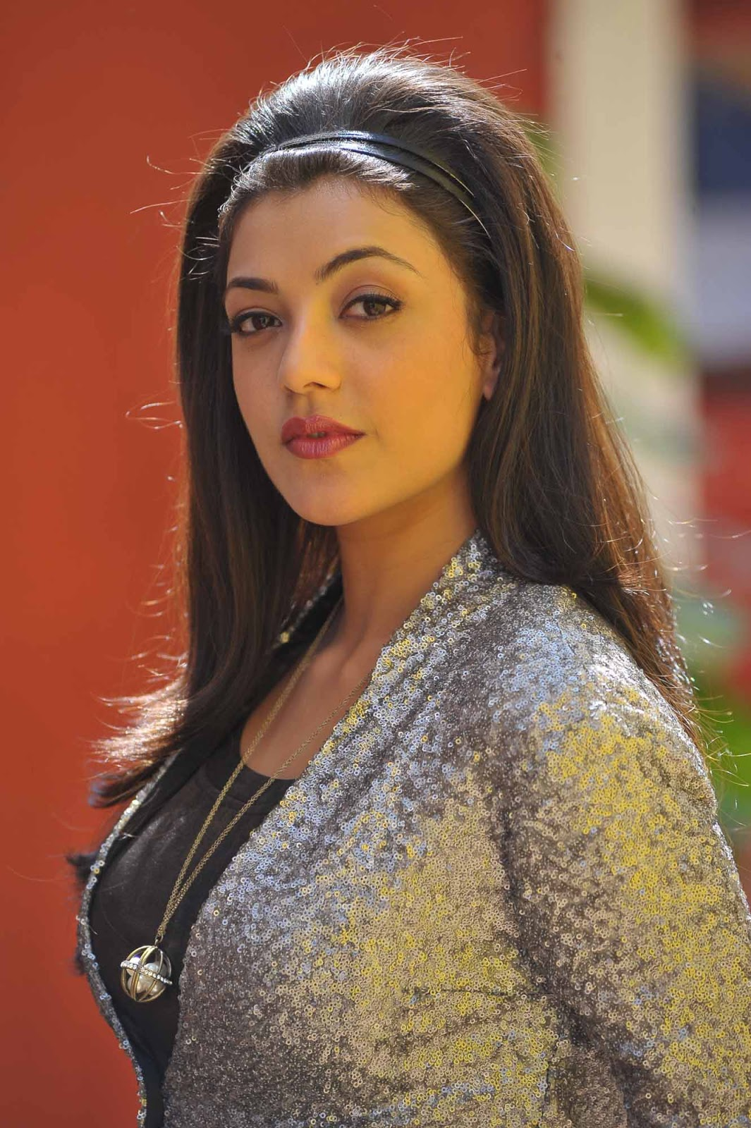 Tollywood Actress Kajal Agarwal Legs Show Stills In Mini Black Dress